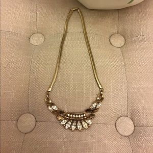 Vintage Gold and Zirconia Necklace 1930's